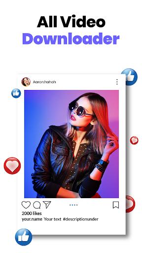 All Video Downloader - Fast Photo & Video Saver - Ảnh chụp màn hình 1