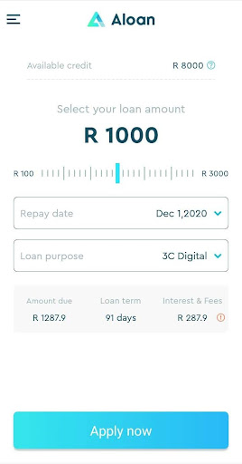 Aloan - Easy Loan, Online Cash in ZA - Ảnh chụp màn hình 2