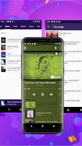 Glow Music - free music player - Ảnh chụp màn hình 4