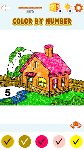 House Paint by Number House Coloring Book - screenshot 6