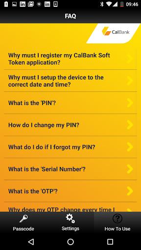 CalBank Soft Token - screenshot 1