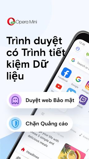 Trình duyệt web Opera Mini - Ảnh chụp màn hình 0