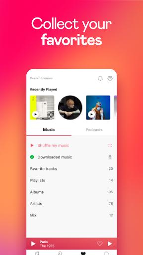 Deezer Music Player: Songs, Playlists & Podcasts - Ảnh chụp màn hình 6