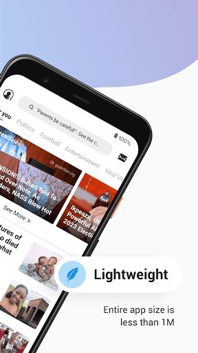 Opera News Lite - Less Data, More News - Ảnh chụp màn hình 1