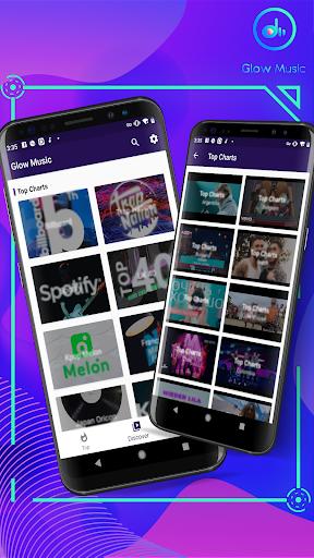 Glow Music - free music player - Ảnh chụp màn hình 2