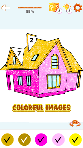 House Paint by Number House Coloring Book - screenshot 4