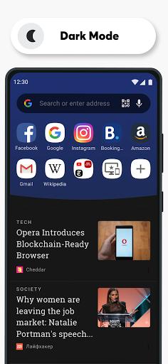 Trình duyệt Opera với VPN miễn phí - Ảnh chụp màn hình 4