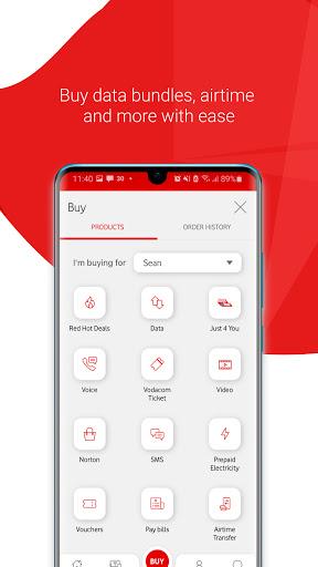 My Vodacom SA - Ảnh chụp màn hình 1