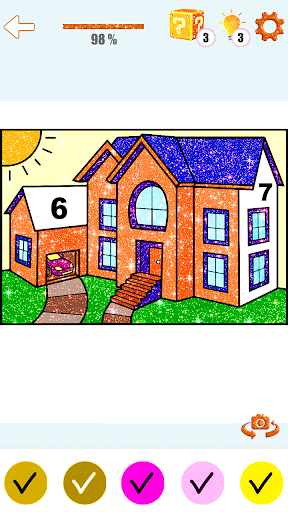 House Paint by Number House Coloring Book - screenshot 3