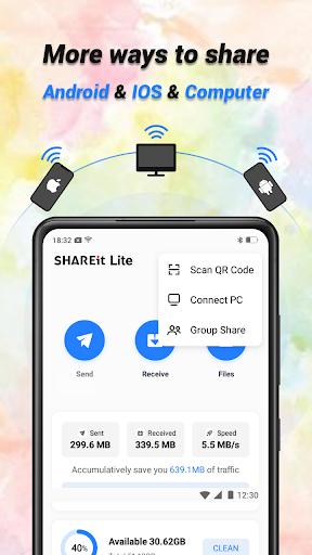 SHAREit Lite - Share & File Transfer App, Share it - Ảnh chụp màn hình 3