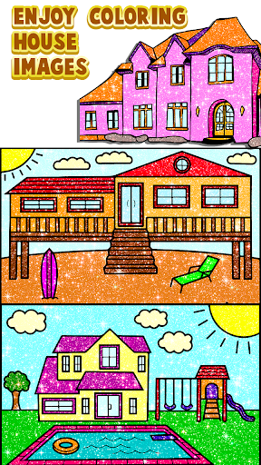 House Paint by Number House Coloring Book - screenshot 1