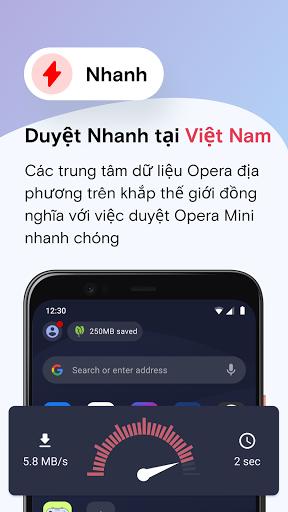 Trình duyệt web Opera Mini - Ảnh chụp màn hình 3