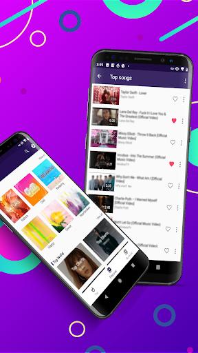 Glow Music - free music player - Ảnh chụp màn hình 1