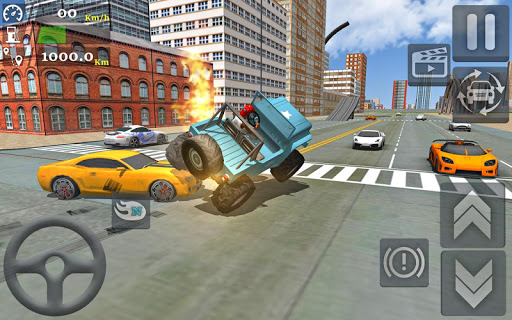 Monster Truck Stunts Driving Simulator - captura de ecrã 3