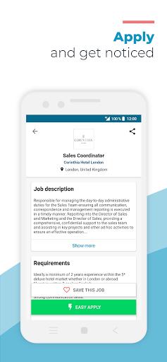 Hosco: Jobs in Hotels, Culinary & Tourism - captura de ecrã 2