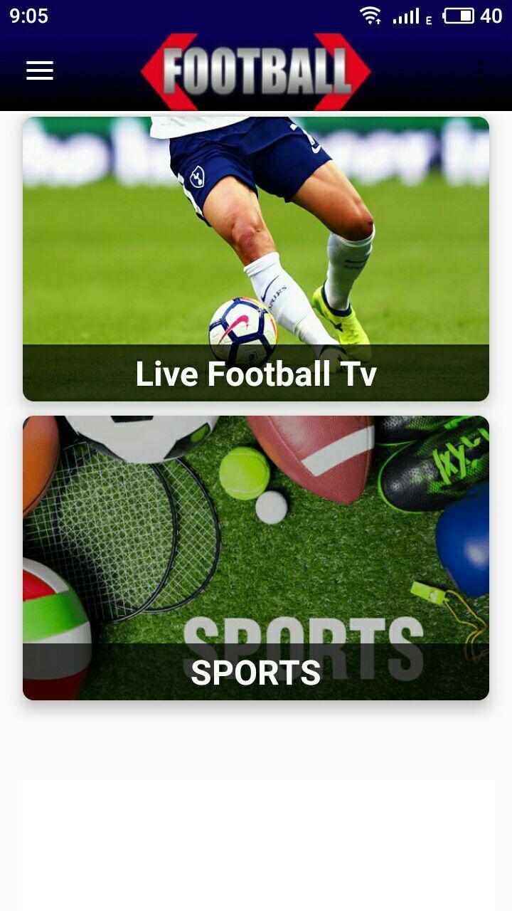 LIVE FOOTBALL TV STREAMING HD - screenshot 0
