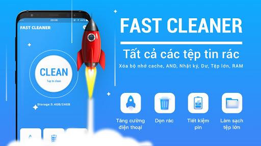 Dọn dẹp nhanh hơn - Tệp rác dọn dẹp và tăng tốc độ - Ảnh chụp màn hình 0