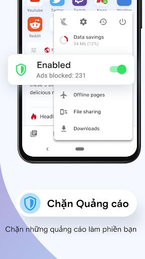 Trình duyệt web Opera Mini - Ảnh chụp màn hình 2