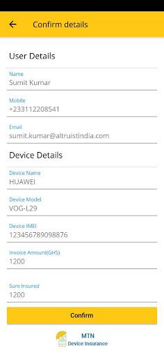 MTN Device Insurance - screenshot 1