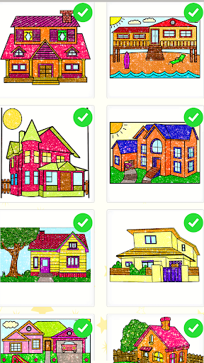 House Paint by Number House Coloring Book - screenshot 0