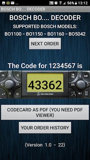 Radio Code DeBoschCoder - captura de ecrã 1