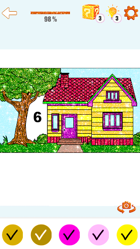 House Paint by Number House Coloring Book - screenshot 2