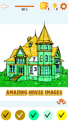 House Paint by Number House Coloring Book - screenshot 5